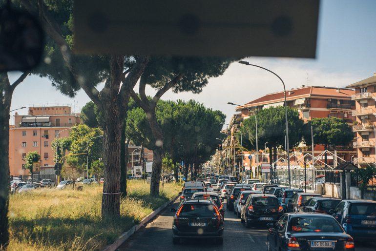 Bus ride into Rome